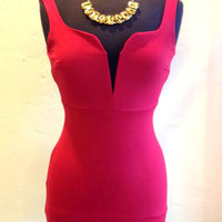 Veronica Deep V Fitted Dress | ZOE Boutique