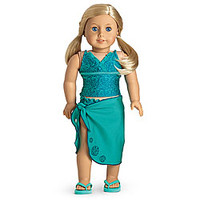 American Girl® Dolls: Tankini & Sarong for Dolls + Charm