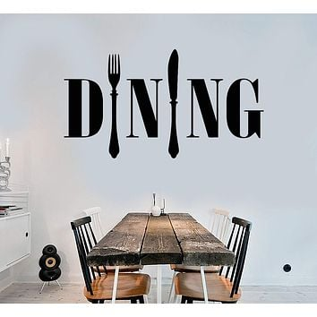 Vinyl Wall Decal Dining Room Kitchen Chef Cook Cutlery Stickers Unique Gift (ig4179)