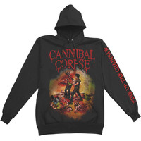 Cannibal Corpse Men's  Fire Up The Chainsaw Hooded Sweatshirt Black