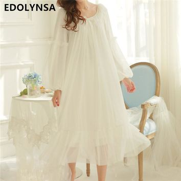 New Arrivals Summer Lace Nightgowns Sexy Ladies Dresses Princess Romantic Sleep Wear Solid Modal Home Dress Soft Nightdress #H91