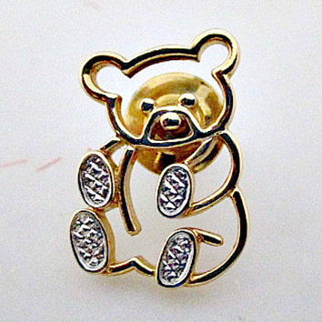 Bear Vintage Avon Animal Tac Pin by vintagejunque on Etsy