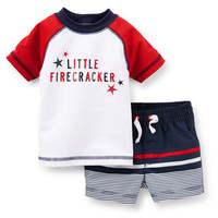 2-Piece 4th Of July Rash Guard Set
