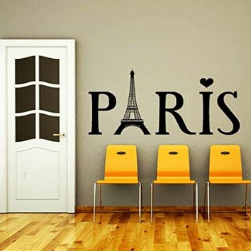 Wall Decals Eiffel Tower Paris Travel France Fashion Office Dorm Decor Living Room Wall Vinyl Decal Stickers Bedroom Murals