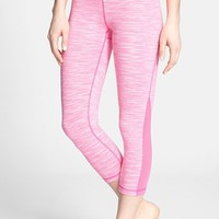 Zella 'Live In - Streamline' Mesh Inset Capri Leggings