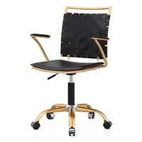 Office Chair In Gold And Black