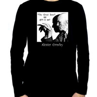 Aleister Crowley Men's Long Sleeve T Shirt Occult the Great Beast