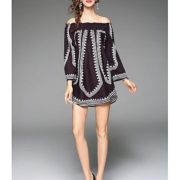 Women's Tunic Dress with Long Sleeves