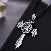 Black Butler Cross Anime Necklace