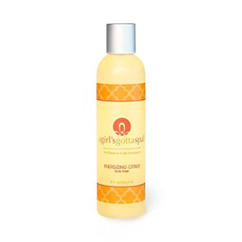 A Girl's Gotta Spa! Energizing Citrus Natural and Organic Body Wash Sulfate Free and Moisturizing 8oz Bottle for Dry Skin