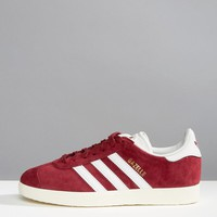 adidas Originals Burgandy Suede Gazelle Sneakers at asos.com