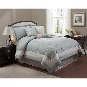 Baltic Linen Co 7 Pc Ashford Deluxe Jacquard Comforter Set King