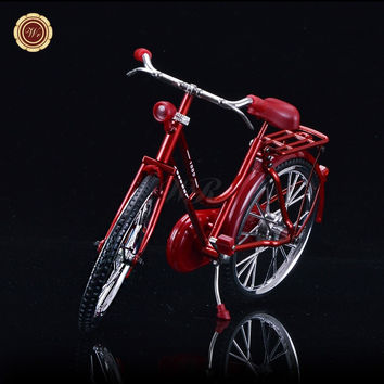 Merry Christmas Vintage Red Bike Models Table Decoration Ideas Diecast Craft Bicycle Toy Gifts Wedding Decoration