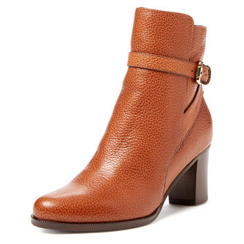 Dionne Buckle Leather Ankle Boot