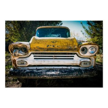 Yellow Chevy Vintage Poster