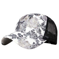 2017 New Style Women Hip Hop Lace Floral Sun Hat Curved Snapback Adjustable Hollow Baseball Cap Hats
