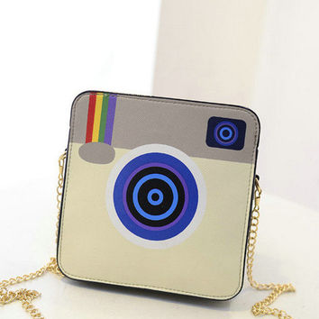 Grey Instagram Cross Body Purse
