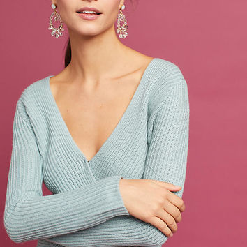Criss-Cross Ribbed Sweater