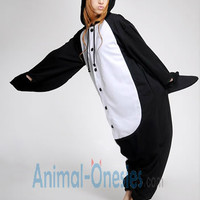Black Penguin Animal Onesuit Kigurumi Costume Adult Pajamas