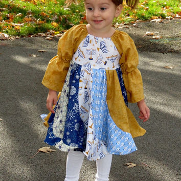 Hanukkah Twirly Dress