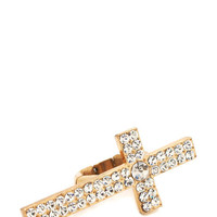 embellished-cross-ring GOLD - GoJane.com