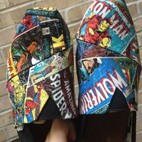 Handmade Marvel Comic Toms by ElizabethRoseShoes on Etsy
