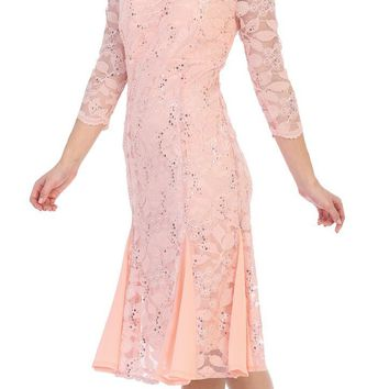 Formal Cocktail Wedding Guest Lace Dress