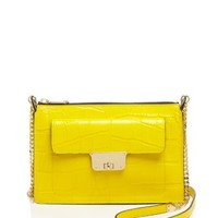 MILLY Crossbody - Isabella Croc-Embossed Top Zip | Bloomingdales's