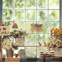 5*6.5ft Bright Windows Backdrop Flower with Peace Dove Children Background Backdrops for Photo Studio CM-4512