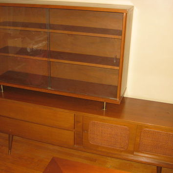 Mid-Century Modern Wall Unit/Credenza/Bookcase