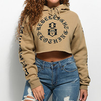 REBEL8 Immortals Brown Cropped Hoodie