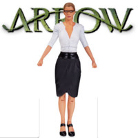 DC Comics the CW TV Show Arrow FELICITY SMOAK Action Figure