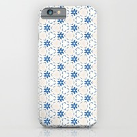 Acrylic Blue Floral Triangles iPhone & iPod Case by Doucette Designs