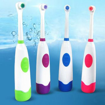 Electric Toothbrush Rotating Anti Slip Waterproof Electric Toothbrush with 2 Brush Heads Tooth Brush Oral Hygiene Dental Care