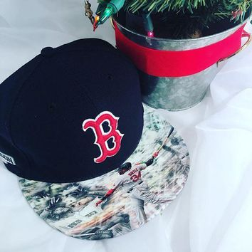 Boston Red Sox Custom Brim Snapback or Fitted Cap Big Papi Said So