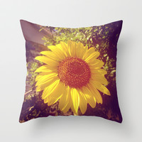 sunflower Throw Pillow by Marianna Tankelevich
