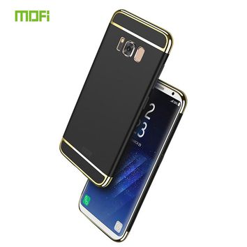 For Samsung Galaxy S8 Cases MOFi Luxury Protective Back Cover 3 in 1 PC Hard Hybrid Case For Samsung S8 Mobile Phone Shell