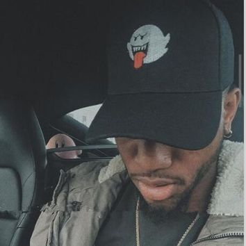 Trendy Winter Jacket Bryson Tiller Hat American Rapper Singer Trapsoul Snapback Hip Hop Dad Hat Distressed Boo Mario Ghost Women Men Baseball Cap AT_92_12