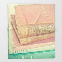Book Lover Throw Blanket by Cassia Beck