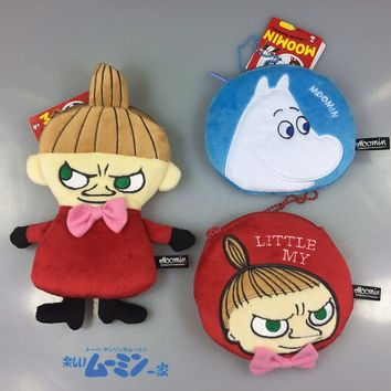 The new style Moomin Cartoon plush toys purse little my wallet / coin bags Key Purse card bag/phone bags anime plush