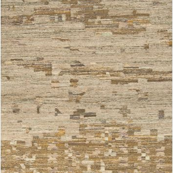 Surya Rustic RUT700 Brown/Green Flatweave Southwest Area Rug