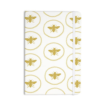 "Jennifer Rizzo ""Busy As A Bee White And Maize"" Yellow Nature Everything Notebook"