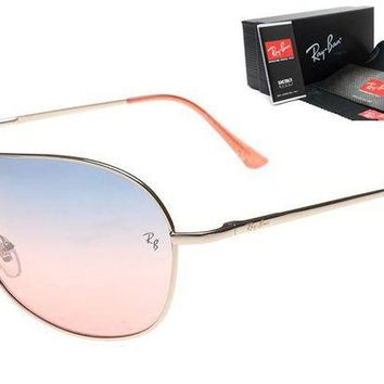 Ray Ban Fashion Women Men Personality Summer Sun Shades Eyeglasses Glasses Sunglasses 6# Blue Pink I-MYJ-YF