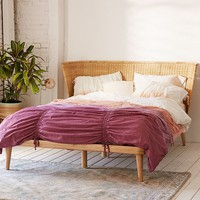 Jens Woven Windsor Platform Bed | Urban Outfitters