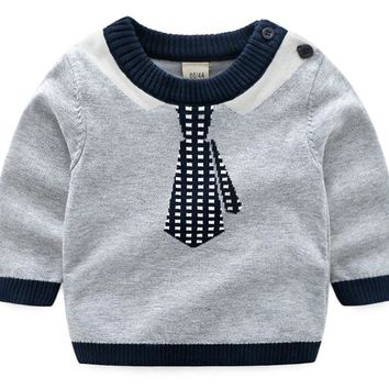 Baby Boys Sweater Autumn Winter Sweatershirt Tiny Cottons Girls Sweater Knitted Pullover Warm Sweater kid clothing BDZ873003