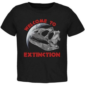 CREYCY8 Earth Day Dino Dinosaur Fossil Welcome To Extinction Toddler T Shirt