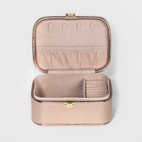 Women's Jewelry Roll with Interior Jewelry Organizer - A New Day™ Rose Gold