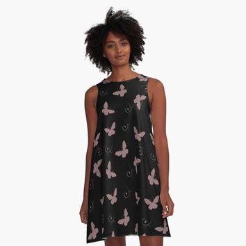 'Flutterbies 2' A-Line Dress by Carmen Ray Anderson