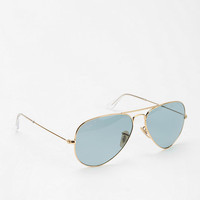 Urban Outfitters - Ray-Ban Golden Blue Aviator Sunglasses