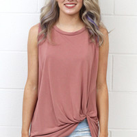 Get Twisted Comfy Tank Basic {L. Brick}